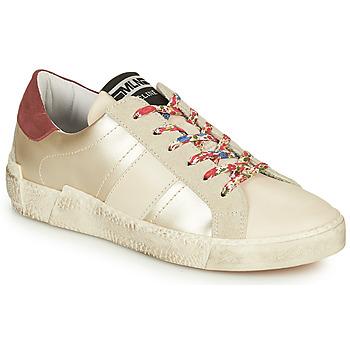 Sko Dame Lave sneakers Meline NKC1381 Hvid / Blomstret