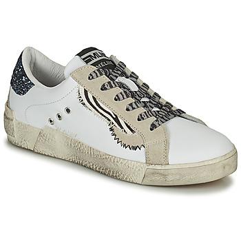 Sko Dame Lave sneakers Meline NK139 Hvid / Glitter / Blå