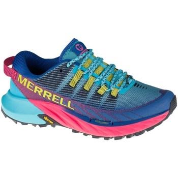 Sko Dame Lave sneakers Merrell Agility Peak 4 Trail Blå, Azurblå, Pink