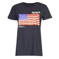 textil T-shirts m. korte ærmer Yurban ONASA Marineblå