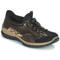 Sko Dame Lave sneakers Rieker ALINDA Bronze / Sort