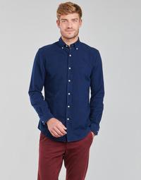 textil Herre Skjorter m. lange ærmer Polo Ralph Lauren TRENNYB Velours / Blå