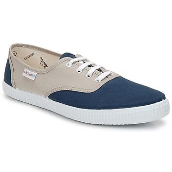 Sko Lave sneakers Victoria INGLESA BICOLOR Beige / Petroleum