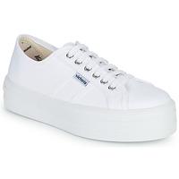 Sko Dame Lave sneakers Victoria BLUCHER LONA PLATAFORMA Hvid