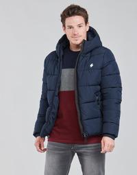 textil Herre Dynejakker Superdry HOODED SPORTS PUFFER Blå