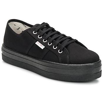 Sko Dame Lave sneakers Victoria BLUCHER LONA PLATAFORMA Sort