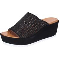 Sko Dame Tøfler Femme Plus Sandaler BJ890 Sort