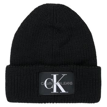 Accessories Dame Huer Calvin Klein Jeans MONOGRAM BEANIE WL Sort