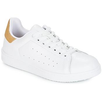 Sko Dame Lave sneakers Yurban SATURNA Hvid / Guld