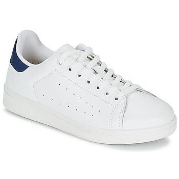 Sko Herre Lave sneakers Yurban SATURNA Hvid / Marineblå