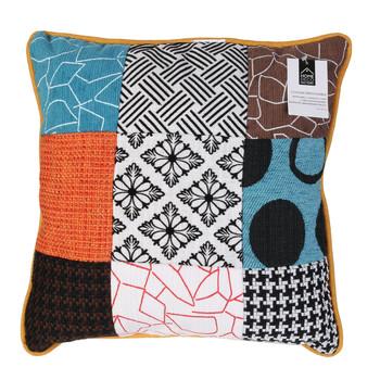 Indretning Puder The home deco factory PATCHWORK Hvid / Sort / Orange / Turkis / Brun