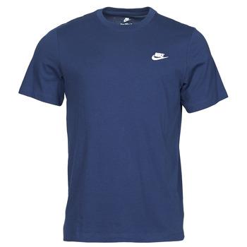 textil Herre T-shirts m. korte ærmer Nike NIKE SPORTSWEAR CLUB Blå / Hvid