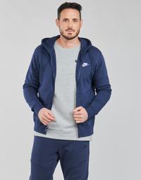 textil Herre Sweatshirts Nike NIKE SPORTSWEAR CLUB FLEECE Blå / Marineblå / Hvid
