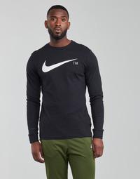 textil Herre Langærmede T-shirts Nike M NSW TEE LS GRX TEE Sort