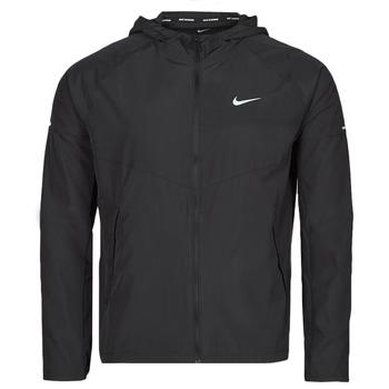 textil Herre Vindjakker Nike M NK RPL MILER JKT Sort / Sølv