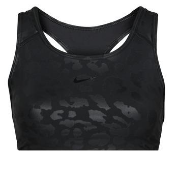 textil Dame Sports-BH Nike W NP DF SWSH LEPARD SHINE BRA Sort