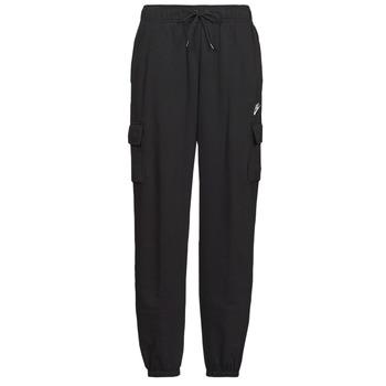 textil Dame Træningsbukser Nike W NSW ESSNTL FLC MR CRGO PNT Sort / Hvid