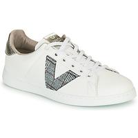 Sko Dame Lave sneakers Victoria TENIS PIEL VEGANA Hvid / Grå