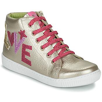 Sko Pige Høje sneakers Agatha Ruiz de la Prada FLOW Beige / Pink