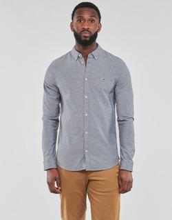 textil Herre Skjorter m. lange ærmer Tommy Jeans TJM STRETCH OXFORD SHIRT Sort
