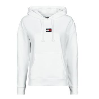 textil Dame Sweatshirts Tommy Jeans TJW TOMMY CENTER BADGE HOODIE Hvid