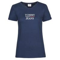 textil Dame T-shirts m. korte ærmer Tommy Jeans TJW SKINNY ESSENTIAL TOMMY T SS Marineblå