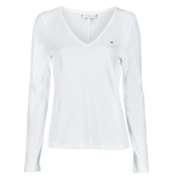 textil Dame Langærmede T-shirts Tommy Hilfiger REGULAR CLASSIC V-NK TOP LS Hvid