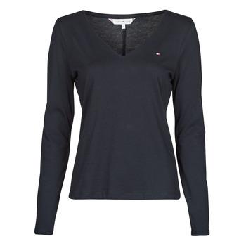 textil Dame Langærmede T-shirts Tommy Hilfiger REGULAR CLASSIC V-NK TOP LS Marineblå