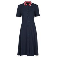 textil Dame Korte kjoler Tommy Hilfiger PIQUE F&F MIDI POLO DRESS SS Marineblå