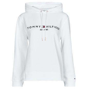 textil Dame Sweatshirts Tommy Hilfiger HERITAGE HILFIGER HOODIE LS Hvid
