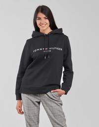 textil Dame Sweatshirts Tommy Hilfiger HERITAGE HILFIGER HOODIE LS Sort