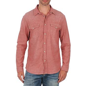 textil Herre Skjorter m. lange ærmer Selected Doha shirt ls r J Rød