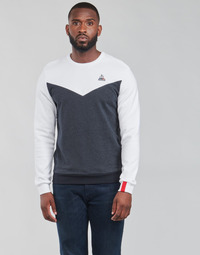 textil Herre Sweatshirts Le Coq Sportif SAISON 1 CREW SWEAT N 1 Marineblå / Hvid
