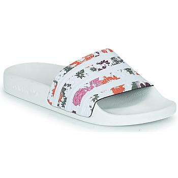 Sko Dame badesandaler adidas Originals ADILETTE W Hvid / Blomstret