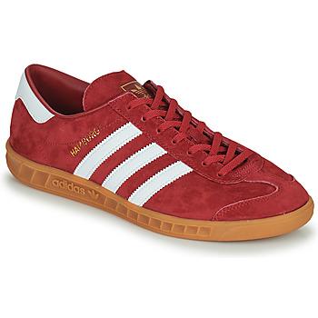 Sko Herre Lave sneakers adidas Originals HAMBURG Rød