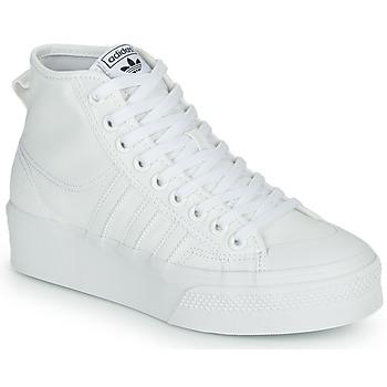 Sko Dame Høje sneakers adidas Originals NIZZA PLATFORM MID Hvid