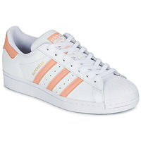 Sko Dame Lave sneakers adidas Originals SUPERSTAR Hvid / Pink
