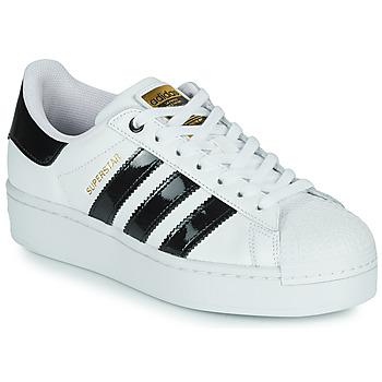 Sko Dame Lave sneakers adidas Originals SUPERSTAR BOLD W Hvid / Sort / Lakeret