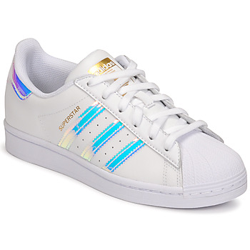 Sko Dame Lave sneakers adidas Originals SUPERSTAR W Hvid / Iriserende