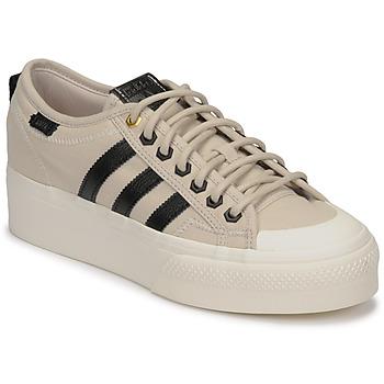 Sko Dame Lave sneakers adidas Originals NIZZA PLATFORM W Beige / Sort
