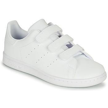 Sko Børn Lave sneakers adidas Originals STAN SMITH CF C Hvid