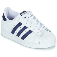 Sko Børn Lave sneakers adidas Originals SUPERSTAR C Hvid / Blå