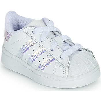 Sko Pige Lave sneakers adidas Originals SUPERSTAR EL I Hvid / Iriserende