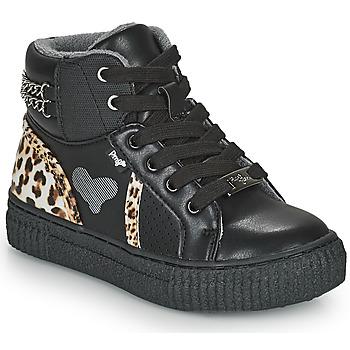 Sko Pige Høje sneakers Primigi GIRL ALPHA Sort / Leopard