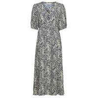 textil Dame Lange kjoler See U Soon 21221123 Marineblå / Hvid