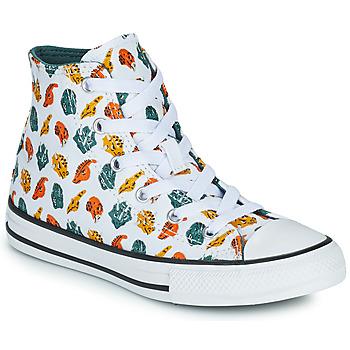 Sko Børn Høje sneakers Converse CHUCK TAYLOR ALL STAR DINO DAZE HI Hvid / Grøn / Orange