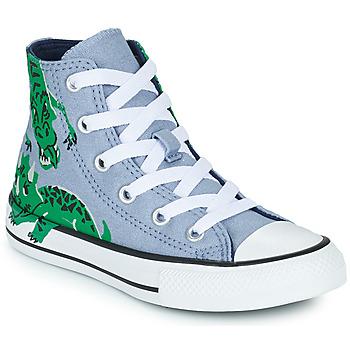 Sko Børn Høje sneakers Converse CHUCK TAYLOR ALL STAR DINO DAZE HI Blå / Grøn