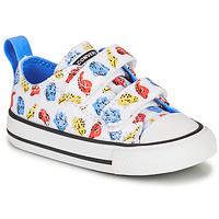 Sko Børn Lave sneakers Converse CHUCK TAYLOR ALL STAR 2V DINO DAZE OX Hvid / Grøn / Orange
