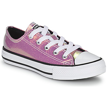 Sko Pige Lave sneakers Converse CHUCK TAYLOR ALL STAR IRIDESCENT GLITTER OX Pink