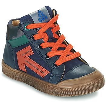 Sko Dreng Høje sneakers Acebo's 5567-MARINO-I Marineblå